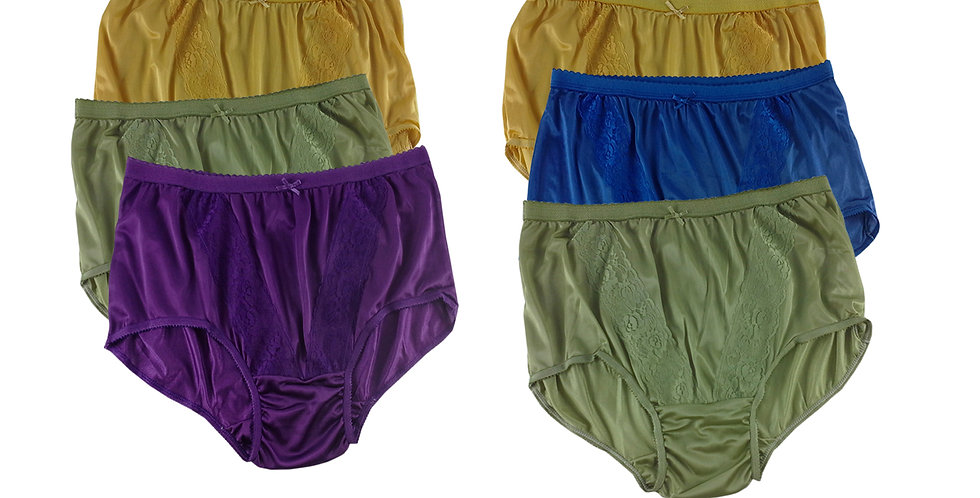 KJSJ54 Lots 6 pcs Wholesale New Panties Granny Briefs Nylon Men Women