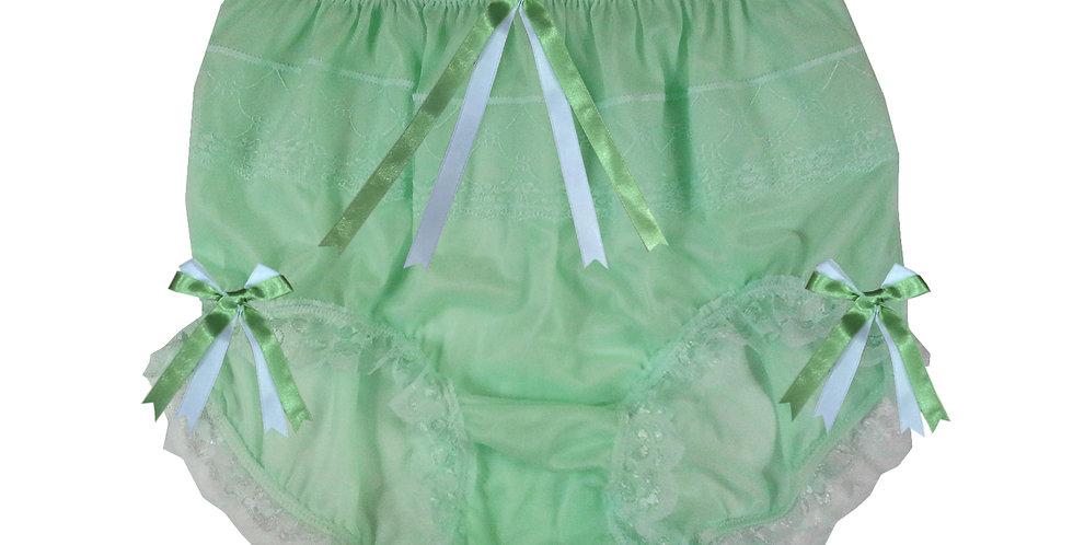 JYH11D03 fair green Handmade Nylon Panties Women Men Lace Knickers Briefs
