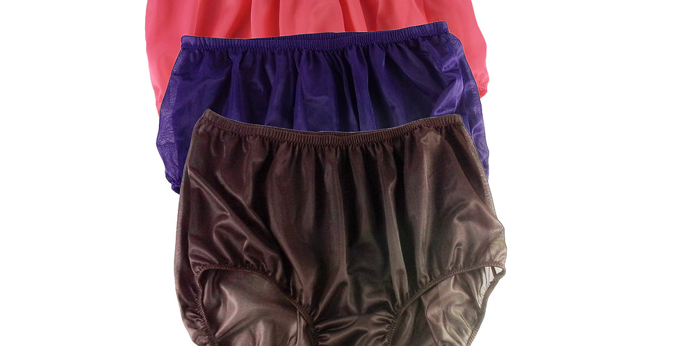 A41 Lots 3 pcs Wholesale Women New Panties Granny Briefs Nylon Knickers