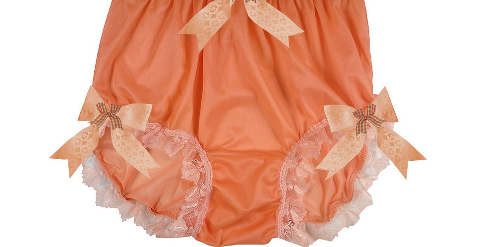 NNH18D11 Orange Handmade Panties Lace Women Men Briefs Nylon Knickers