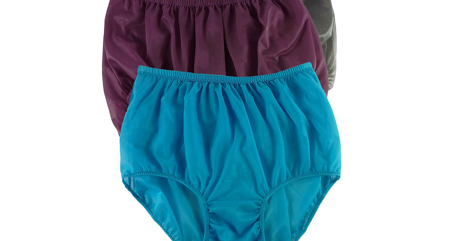 A76 Lots 3 pcs Wholesale Women New Panties Granny Briefs Nylon Knickers