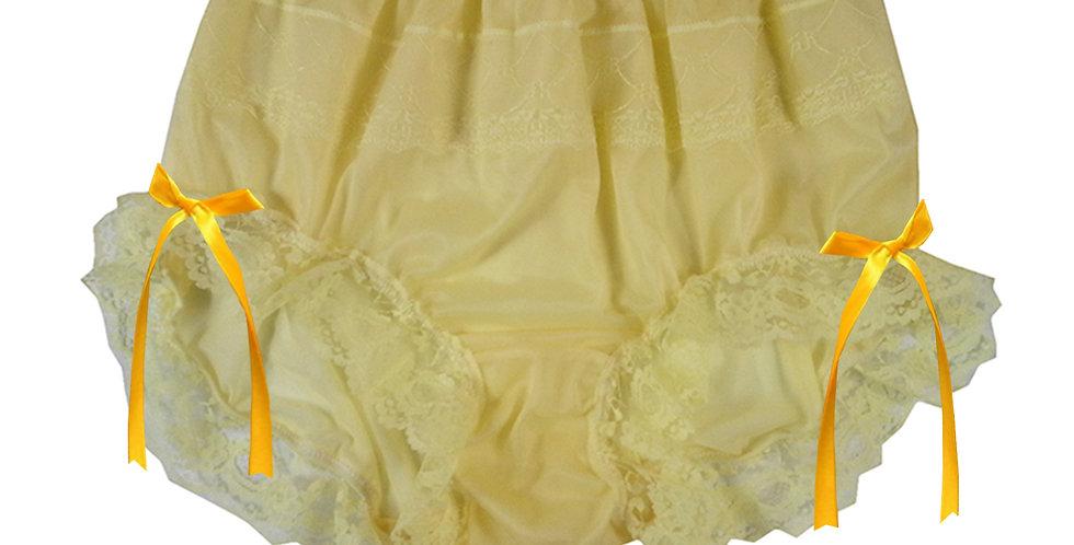 JYH17D08 Yellow Handmade Nylon Panties Women Men Lace Knickers Briefs