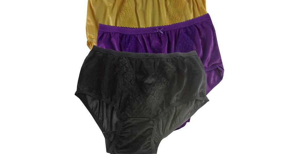 KJTK09 Lots 3 pcs Wholesale Panties Granny Lace Briefs Nylon Men Woman