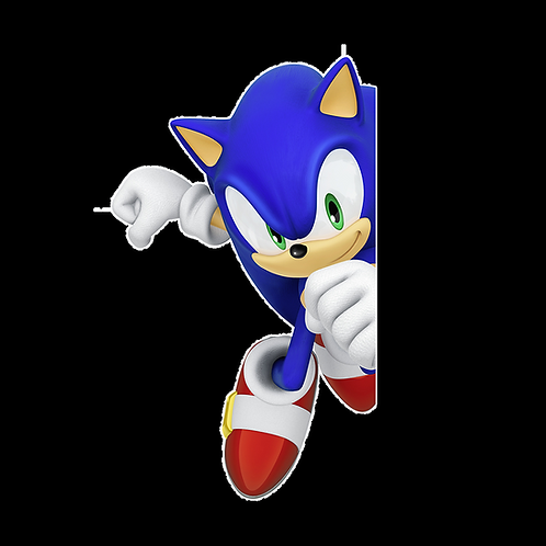 Peeking stickers Anime Stickers for Car Decals PKT241 Sonic The Hedgehog