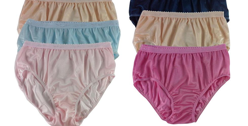 CKSL53 Lots 6 pcs Wholesale New Nylon Panties Women Undies Briefs