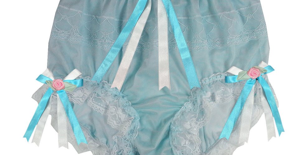 JYH22D26 Blue Handmade Nylon Panties Women Men Lace Knickers Briefs
