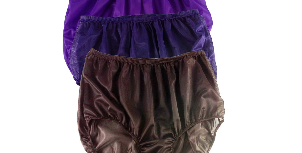 A40 Lots 3 pcs Wholesale Women New Panties Granny Briefs Nylon Knickers