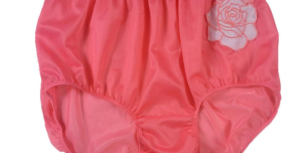 New Light Pink Floral Rose nylon Panties Knickers Briefs Men Handmade Lacy NROE
