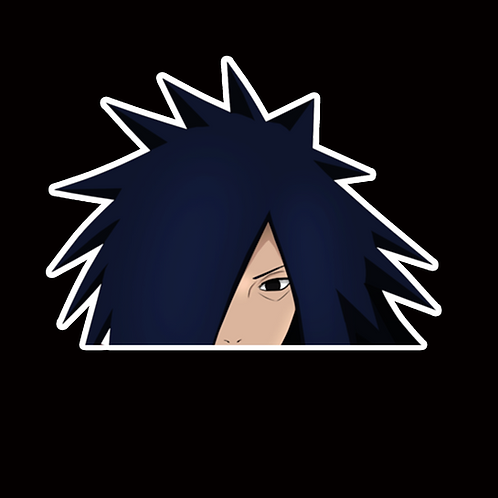 NOR249 Madara uchiha Naruto Peeking anime sticker Car Decal Vinyl Window