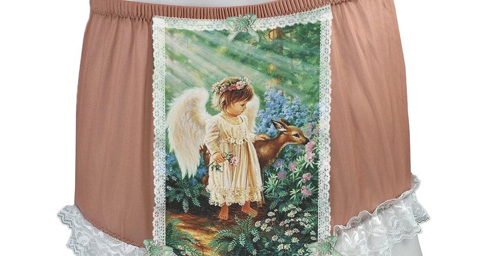 NNH25D06 Orange Handmade Panties Lace Women Men Briefs Nylon Knickers