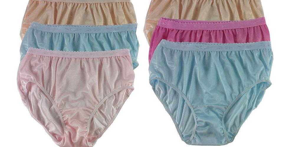 CKSL41 Lots 6 pcs Wholesale New Nylon Panties Women Undies Briefs