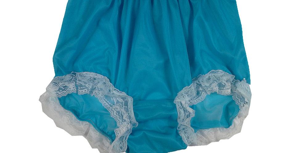 NNH05D03 Light Blue Handmade Panties Lace Women Men Briefs Nylon Knickers