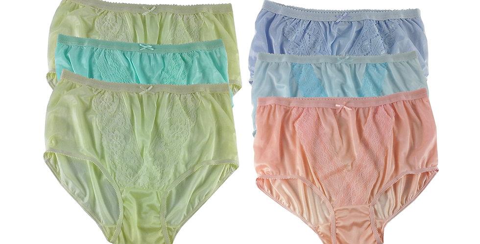 NLSG46 Lots 6 pcs Wholesale New Panties Granny Briefs Nylon Men Women