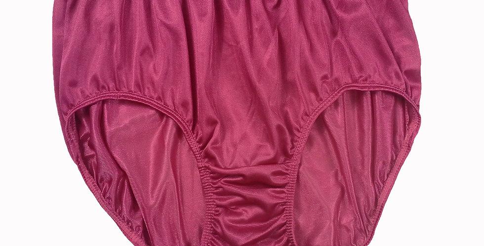 JR01 Red Half Briefs Nylon Panties Women Men Knickers