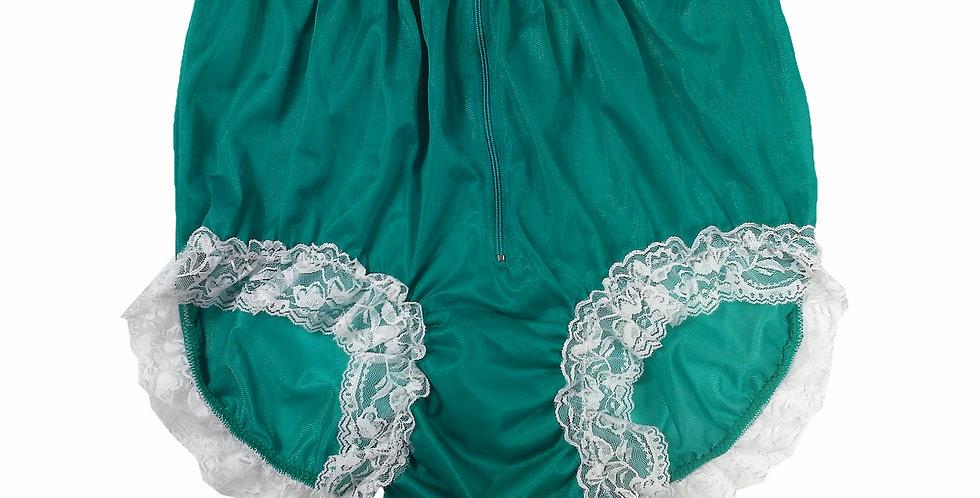 NNH09D02 Green Handmade Panties Lace Women Men Briefs Nylon Knickers