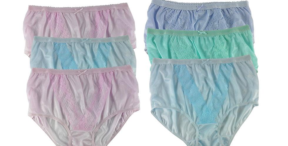 NLSG68 Lots 6 pcs Wholesale New Panties Granny Briefs Nylon Men Women