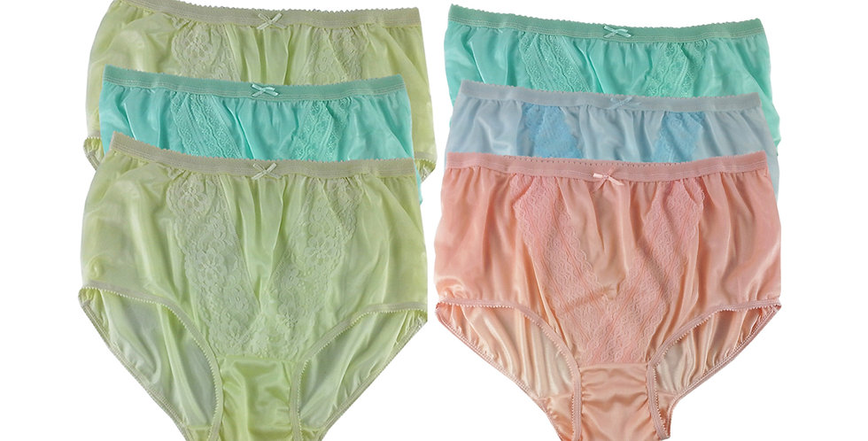 NLSG41 Lots 6 pcs Wholesale New Panties Granny Briefs Nylon Men Women