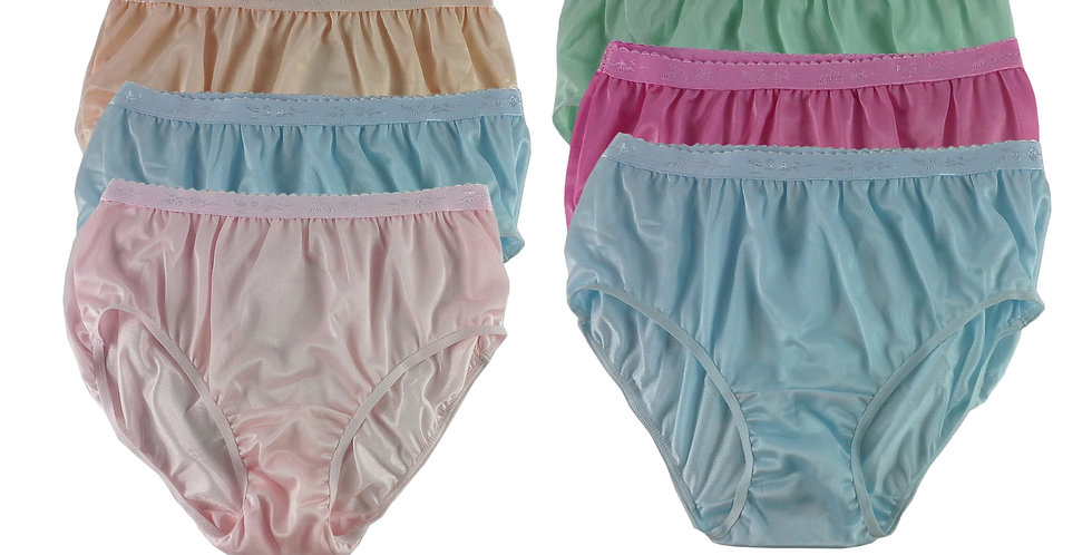 CKSL39 Lots 6 pcs Wholesale New Nylon Panties Women Undies Briefs