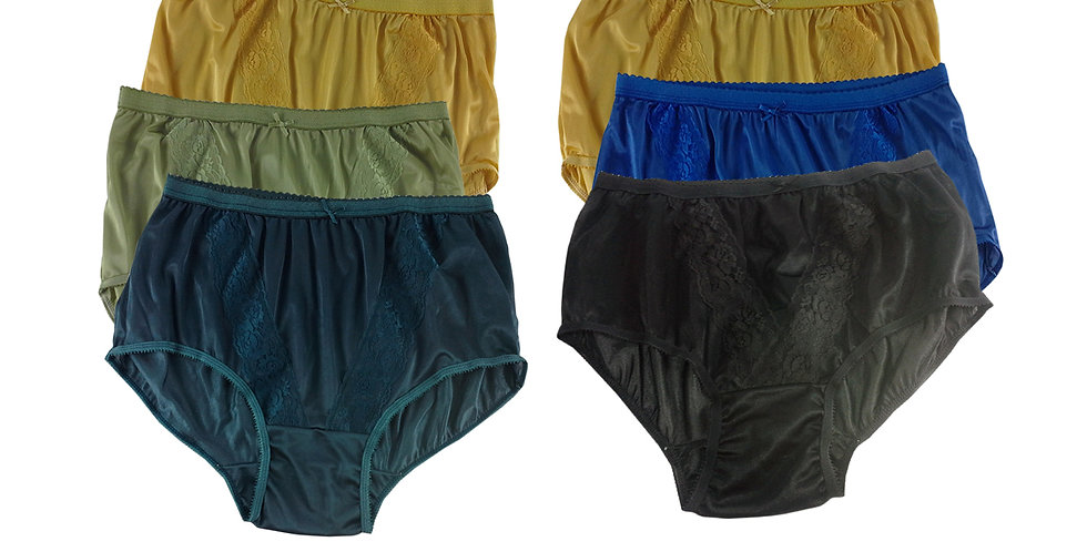 KJSJ47 Lots 6 pcs Wholesale New Panties Granny Briefs Nylon Men Women