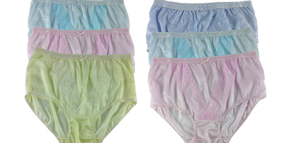 NLSG109 Lots 6 pcs Wholesale New Panties Granny Briefs Nylon Men Women