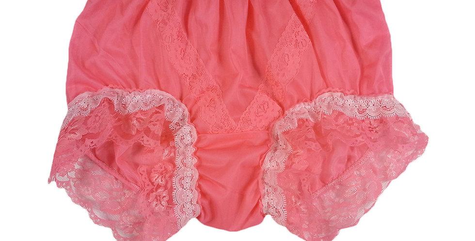 SSH05D02 Light Pink Handmade Nylon Panties Lace Women Granny Men Briefs