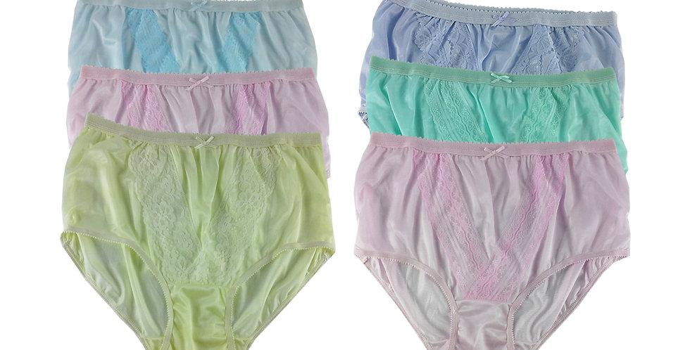 NLSG112 Lots 6 pcs Wholesale New Panties Granny Briefs Nylon Men Women
