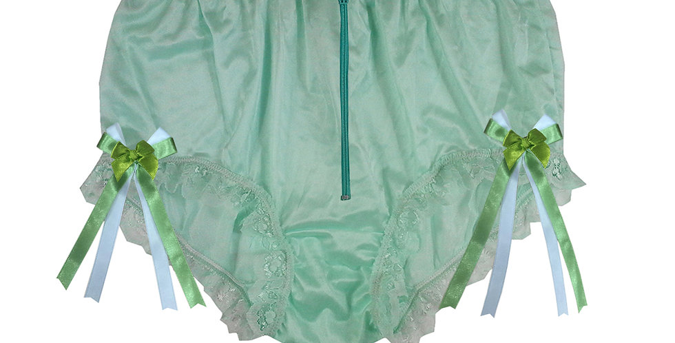 NYH20D03 Green Zipper Handmade New Panties Briefs Lace Sheer Nylon Men Women