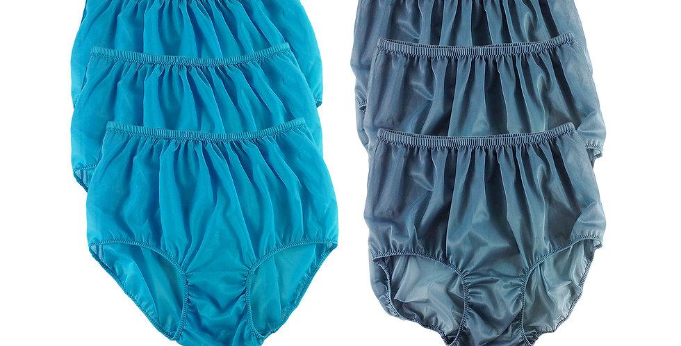 NSD135Lots 6 pcs Wholesale Women New Panties Granny Briefs Nylon Lingerie