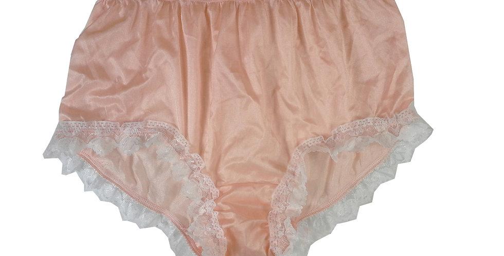 NYH24D04 Orange Handmade New Panties Briefs Lace Sheer Nylon Men Women