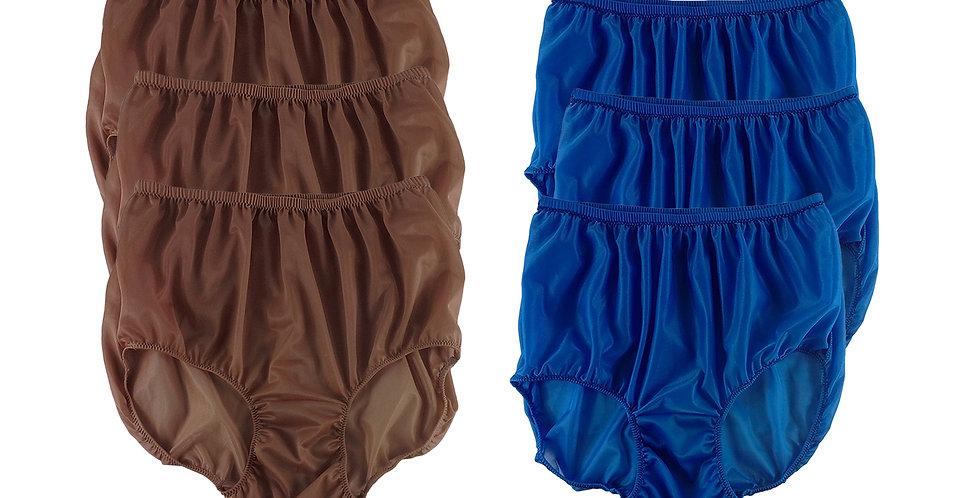 NSD83Lots 6 pcs Wholesale Women New Panties Granny Briefs Nylon Lingerie