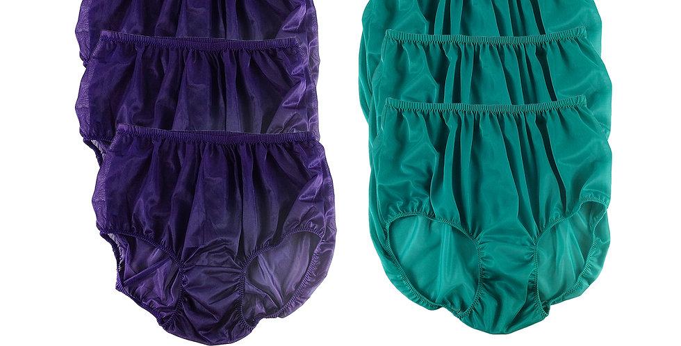 NSD44Lots 6 pcs Wholesale Women New Panties Granny Briefs Nylon Lingerie