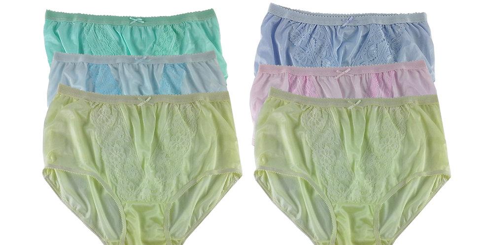 NLSG118 Lots 6 pcs Wholesale New Panties Granny Briefs Nylon Men Women