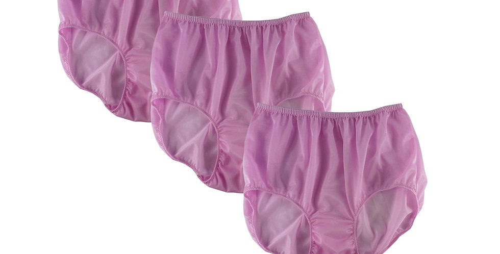 BB7 Fair Pink Lots 3 pcs Wholesale Women New Panties Granny Briefs Nylon