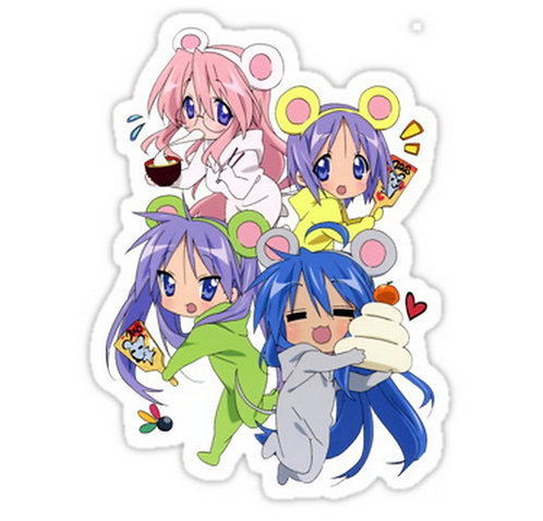 SRBB0709 Lucky star new year kumas anime sticker