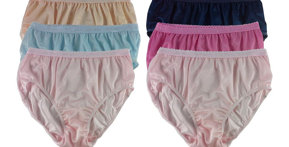 CKSL46 Lots 6 pcs Wholesale New Nylon Panties Women Undies Briefs