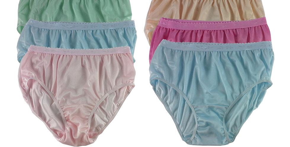 CKSL22 Lots 6 pcs Wholesale New Nylon Panties Women Undies Briefs