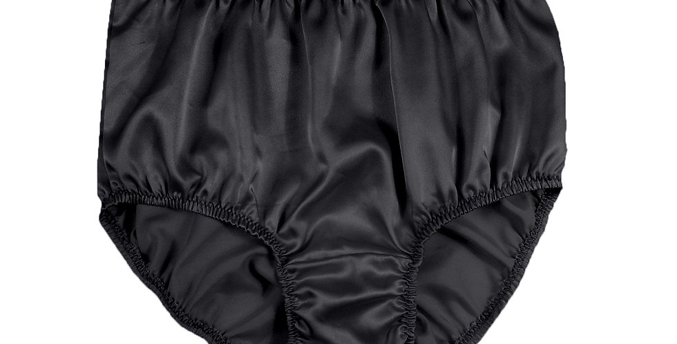 STP01 Black New Satin Panties Women Men Briefs Knickers