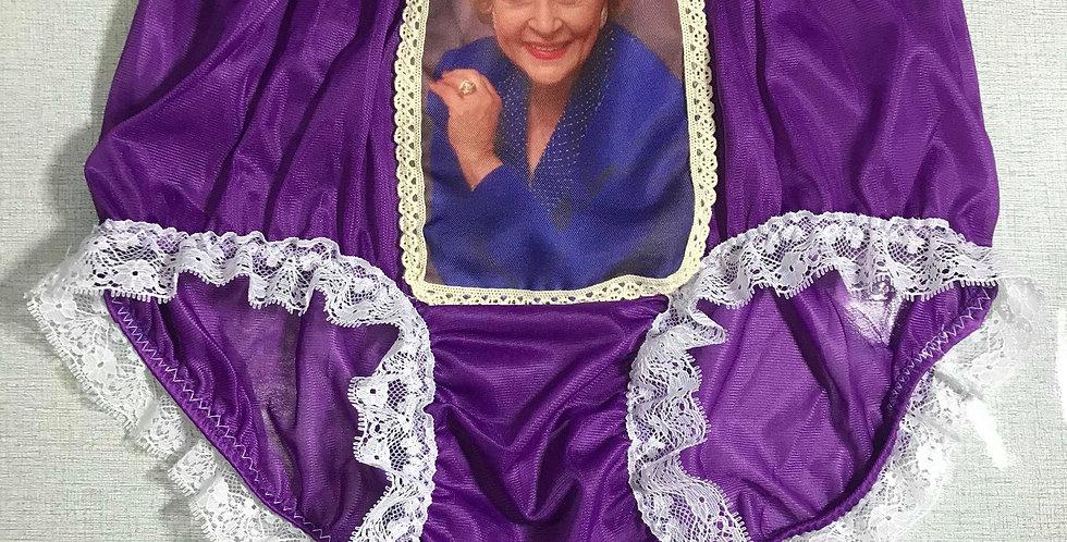 Sissy Light Purple The Golden Girls Briefs Nylon Lacy Panties Men Handmade GG11