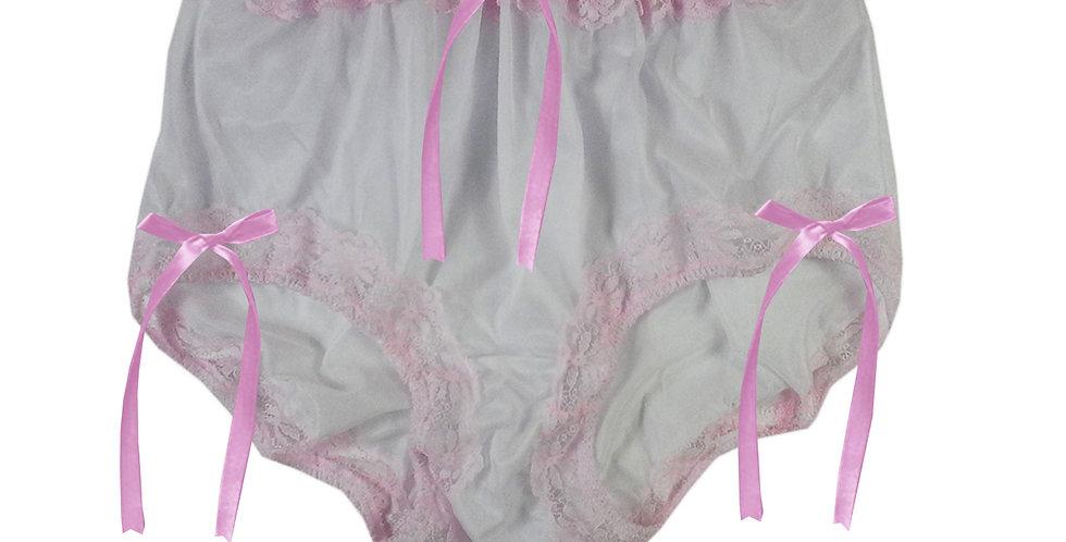 NNH06D02 white Handmade Panties Lace Women Men Briefs Nylon Knickers