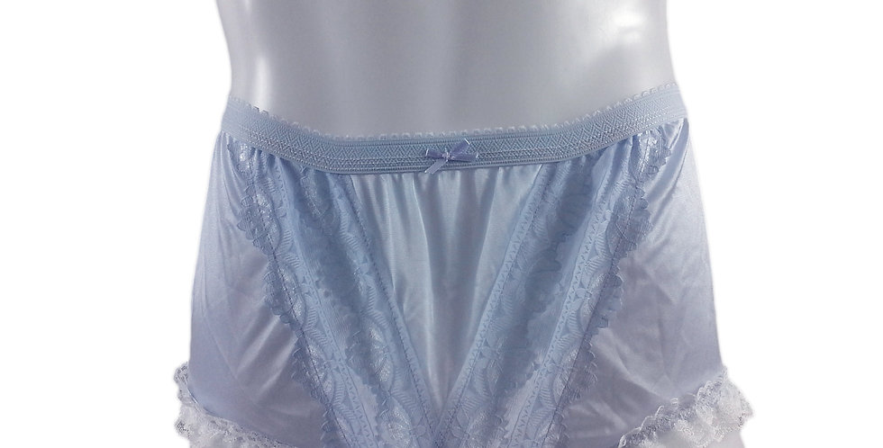 NLH02D12 Purple Panties Granny Lace Briefs Nylon Handmade  Men Woman