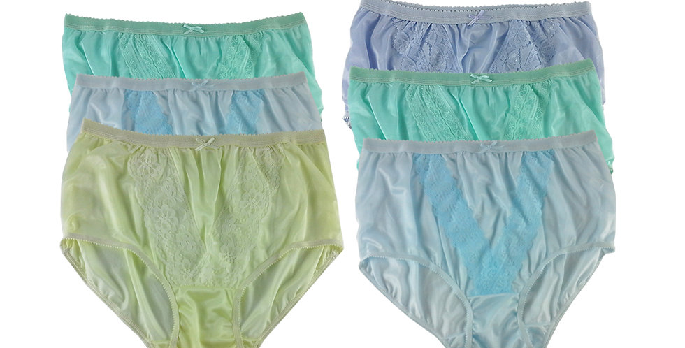 NLSG126 Lots 6 pcs Wholesale New Panties Granny Briefs Nylon Men Women