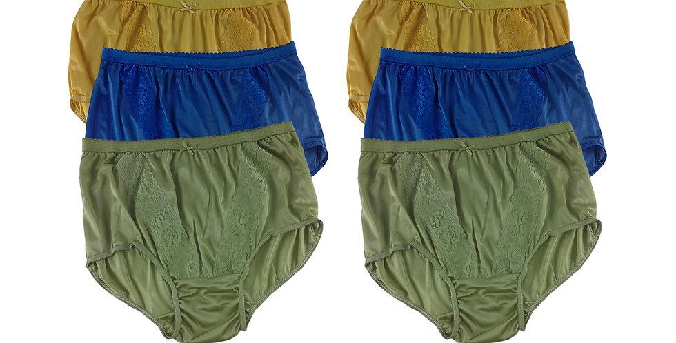 KJSJ70 Lots 6 pcs Wholesale New Panties Granny Briefs Nylon Men Women
