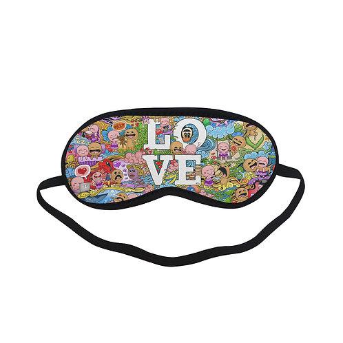SPM188 Love Cookie Cartoon Eye Printed Sleeping Mask