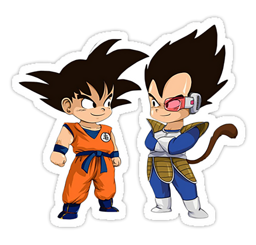 SRBB0633 Son Goku Son Vegeta anime sticker