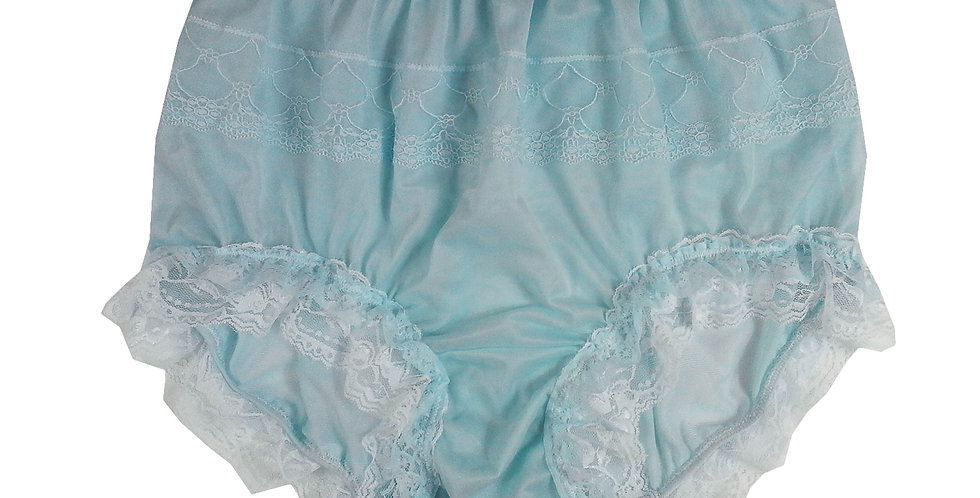 JYH05D05 Fair Blue Handmade Nylon Panties Women Men Lace Knickers Briefs