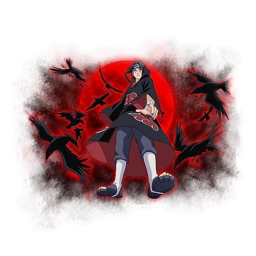 NRT434 Uchiha Itachi Akatsuki Sharingan Naruto anime s