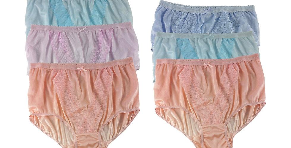 NLSG133 Lots 6 pcs Wholesale New Panties Granny Briefs Nylon Men Women