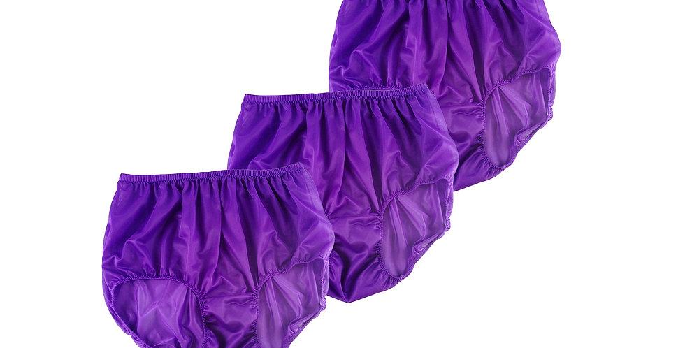 BB12 Light Purple Lots 3 pcs Wholesale Women New Panties Granny Briefs Nylon