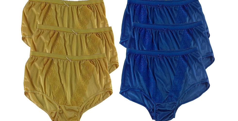 KJSJ01 Lots 6 pcs Wholesale New Panties Granny Briefs Nylon Men Women
