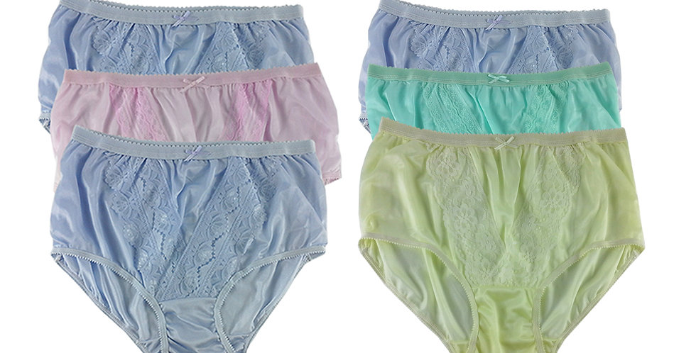 NLSG31 Lots 6 pcs Wholesale New Panties Granny Briefs Nylon Men Women